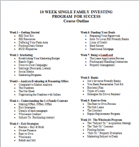 Single Family Coaching Outline - Joe Boston